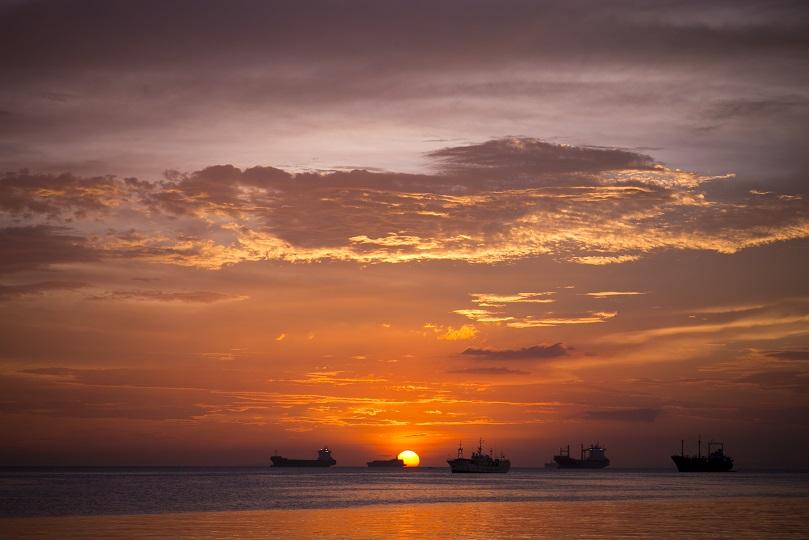 フィリピン マニラ 夕陽