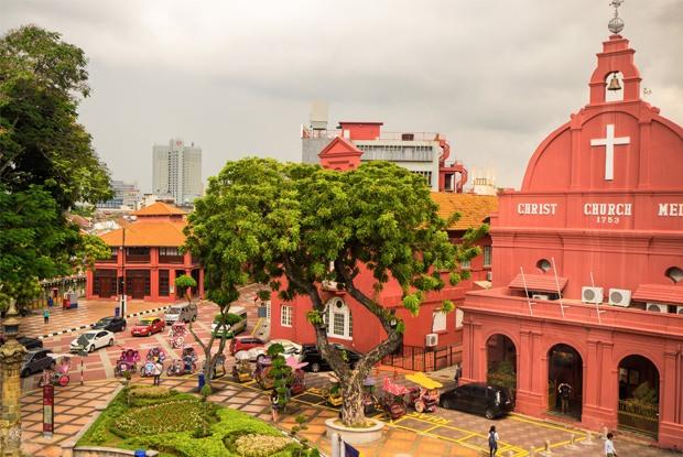 異国情緒あふれるマラッカ旧市街は、マレーシアを代表する世界遺産