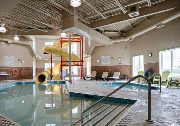 Indoor Pool, Waterslide, Hot Tub