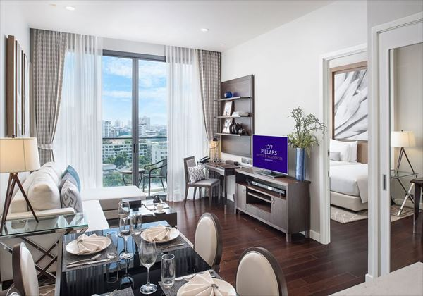 1bedroom residences living room