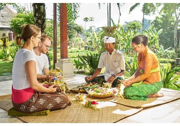Balinese Making Canang Class