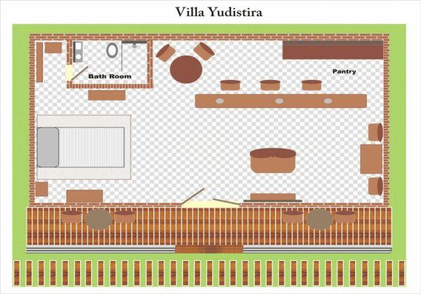Villa Yudistira Layout