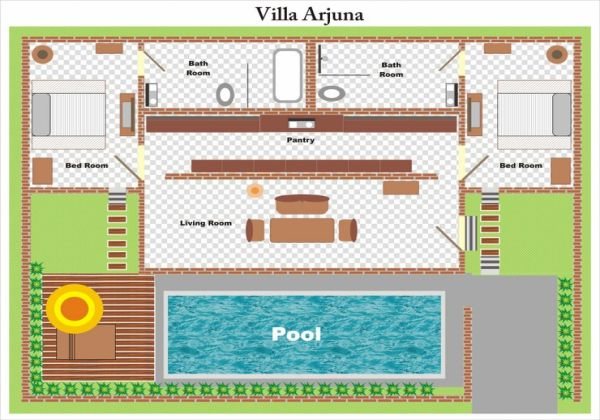 Villa Arjuna Layout