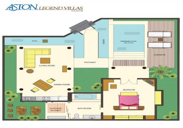 Lay Out 1 Bedroom Villa
