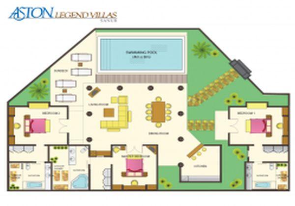Lay Out 3 Bedroom Villa