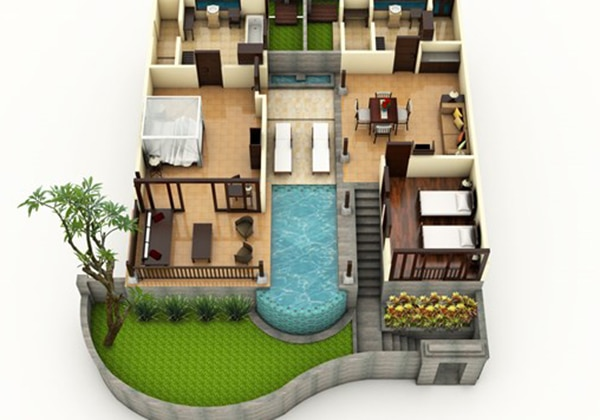 Two-Bedroom Pool Villa