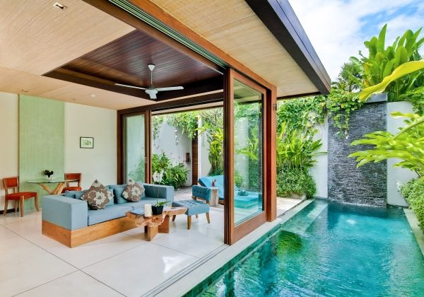 Living Area of One Bedroom Pool Villa