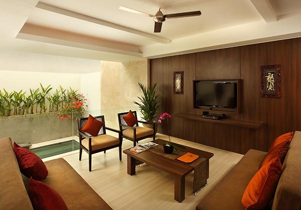 2 Bedroom Pool Villa - Livingroom