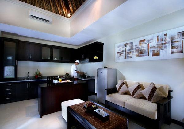 Deluxe One Bedroom Villa Livingroom