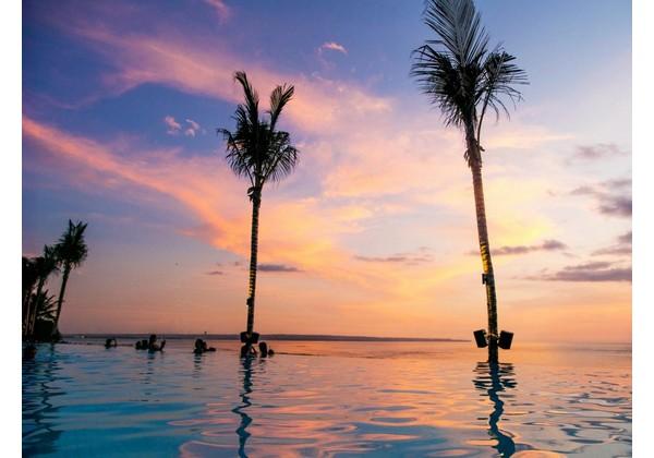 Beach Club Pool Sunset