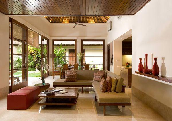 Luxury Pool Villa Lounge Area