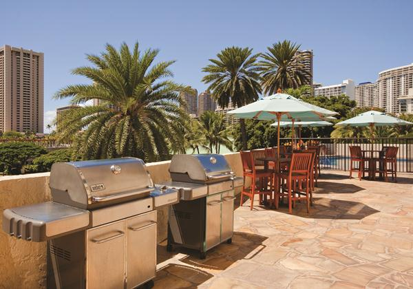 Pool side BBQ area