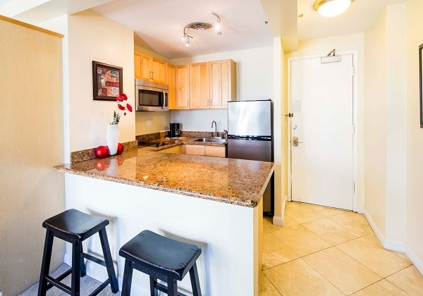 City View Studio Kitchenette