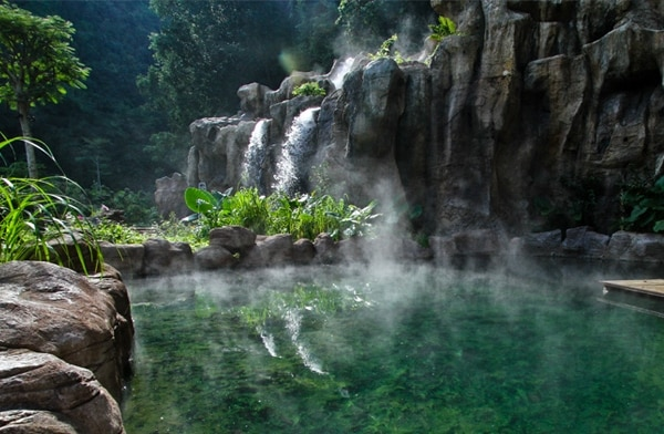 Natural hotsprings source.