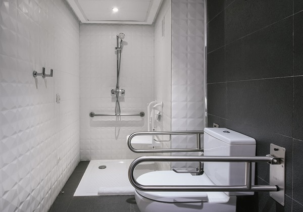 Deluxe Twin Adapted bathroom