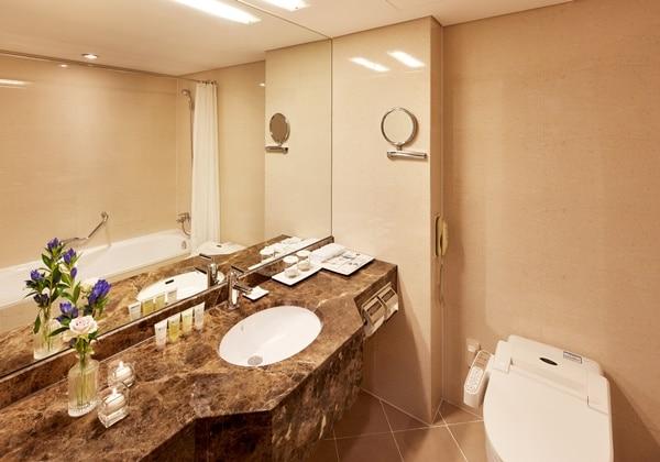 Ladys Twin Bathroom