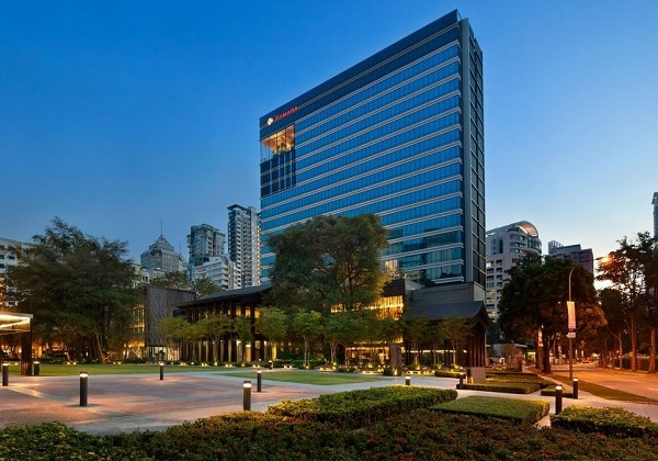 Elevation of Hotel Lobby
