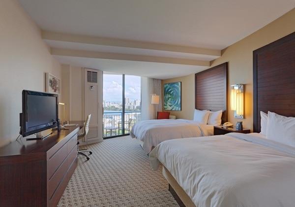 2 DOUBLE BEDS W/OCEANVIEW