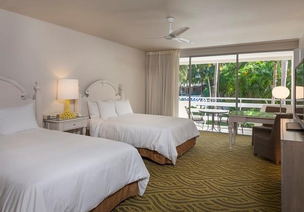GARDEN LANAI ROOM-BALCONY-2DOUBLE BEDS
