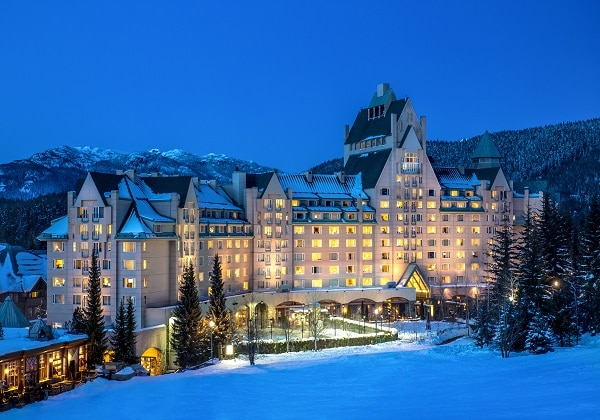 Chateau Whistler Exterior Winter